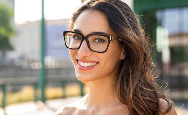 A beautiful El Paso girl wearing glasses
