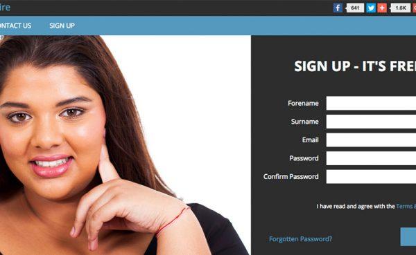 BBW Admire Landing Page