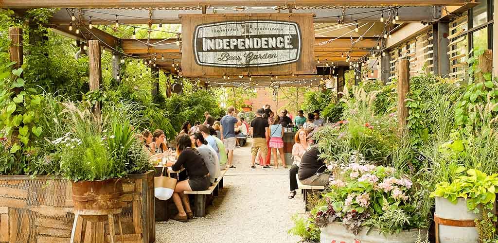 The breezy Independence Beer Garden