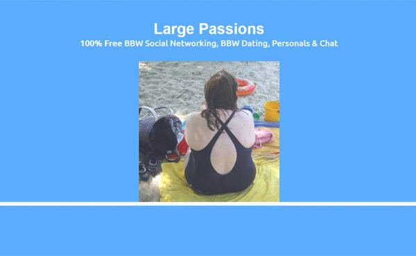 Large Passions Landing Page