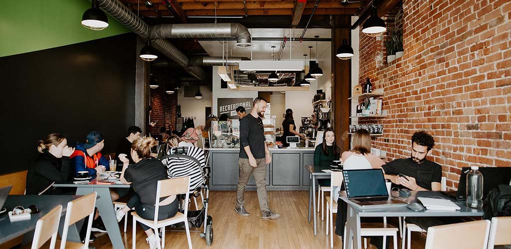 Inside Recreational Coffee