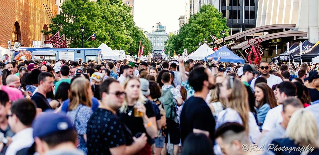 The huge crowd at Brewgaloo