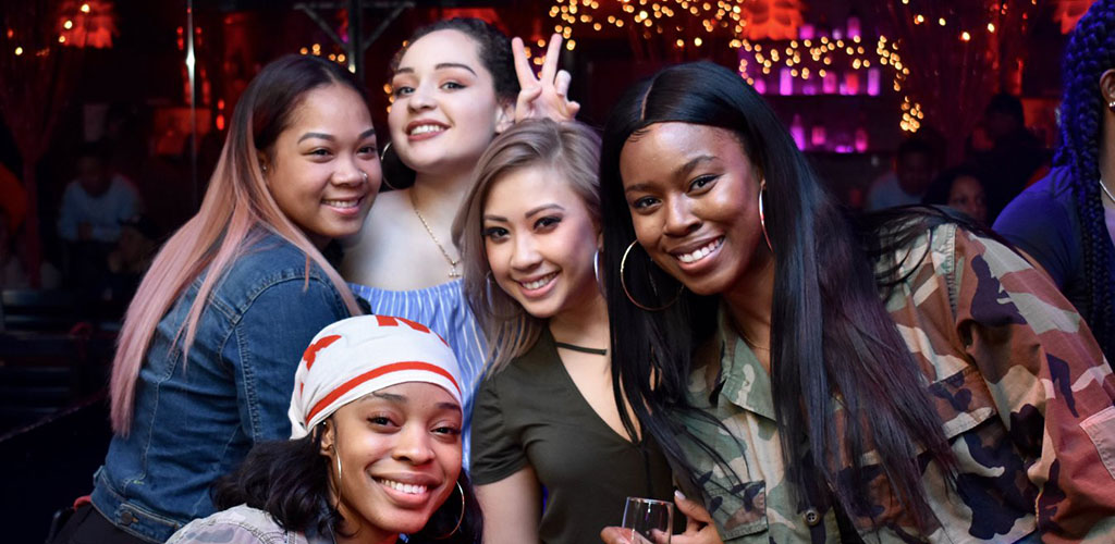 Hot girls on a night out at Brugada Bar and Lounge
