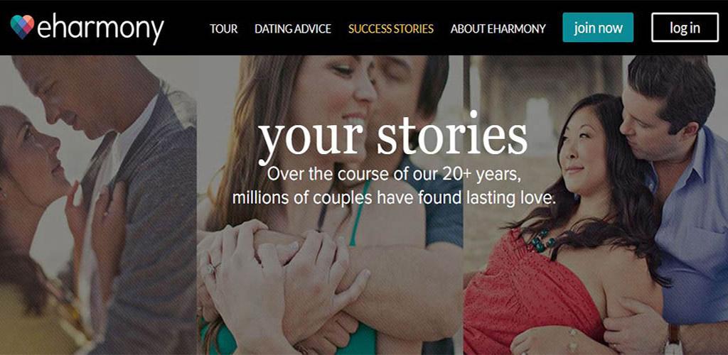 eHarmony homepage