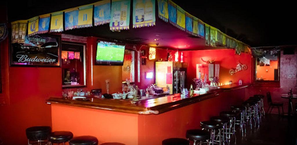 The colorful bar at El Cancun Nightclub