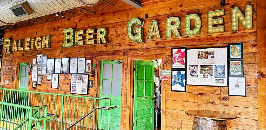 In front of Raleigh Beer Garden