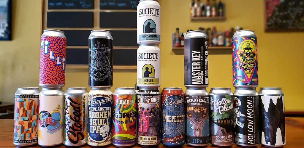 The many brews available on Spokeasy