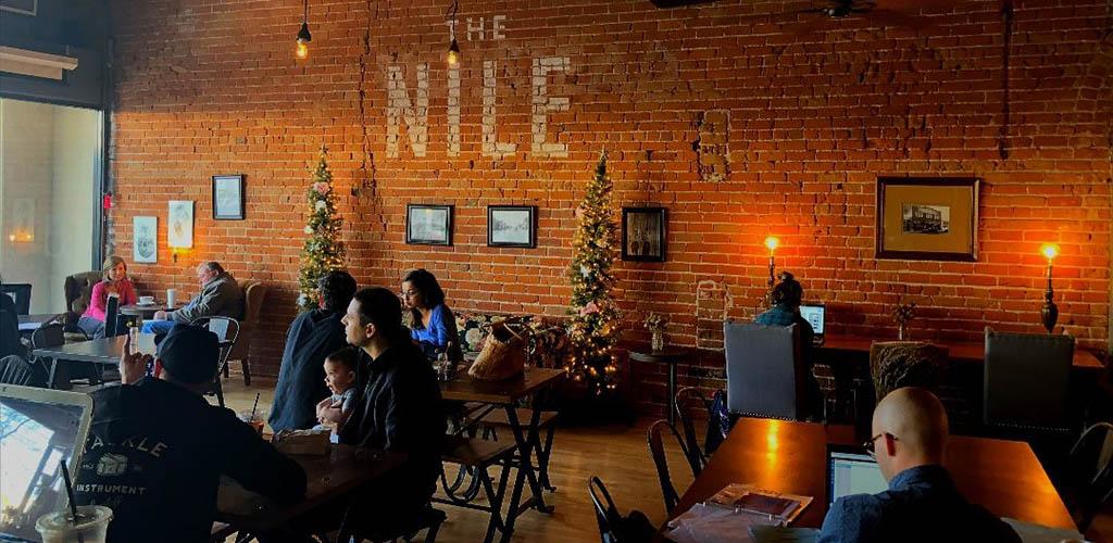The rustic Nile Coffee Shop