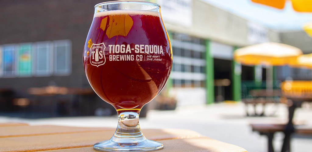 A beer from Tioga Sequoia