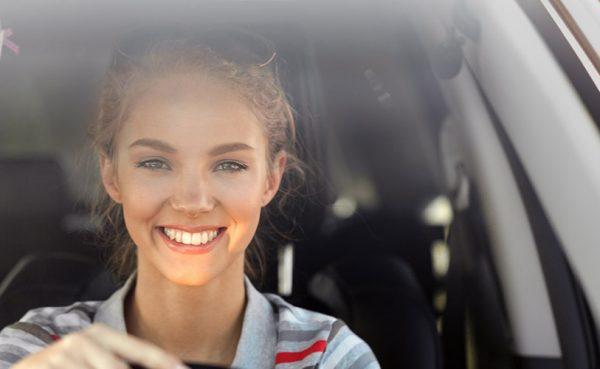 Pretty girl in her car