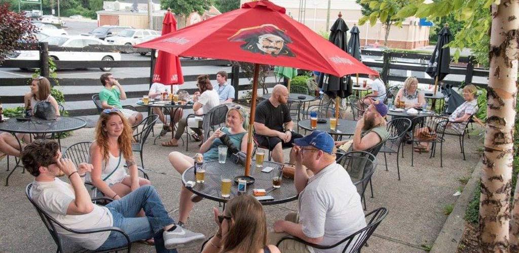 The patio of Campus Pub