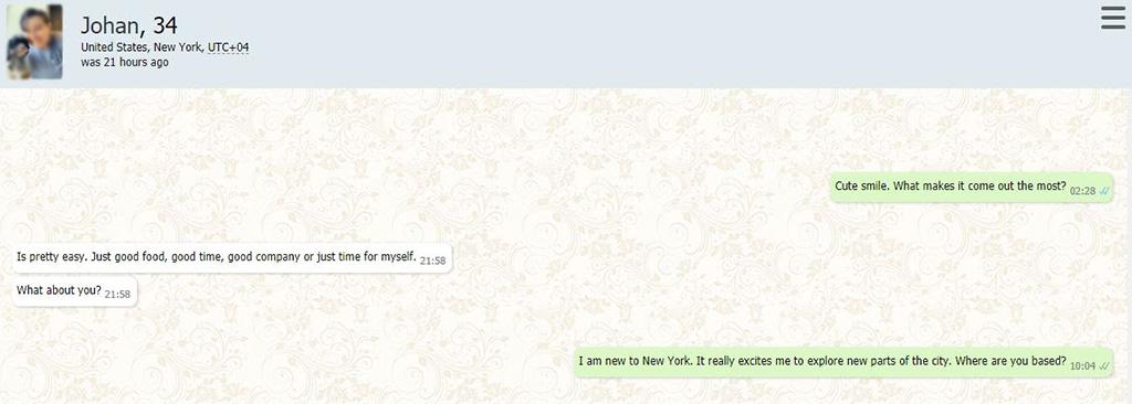 A very short conversation