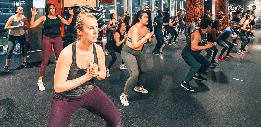 A workout session at Fit Factory