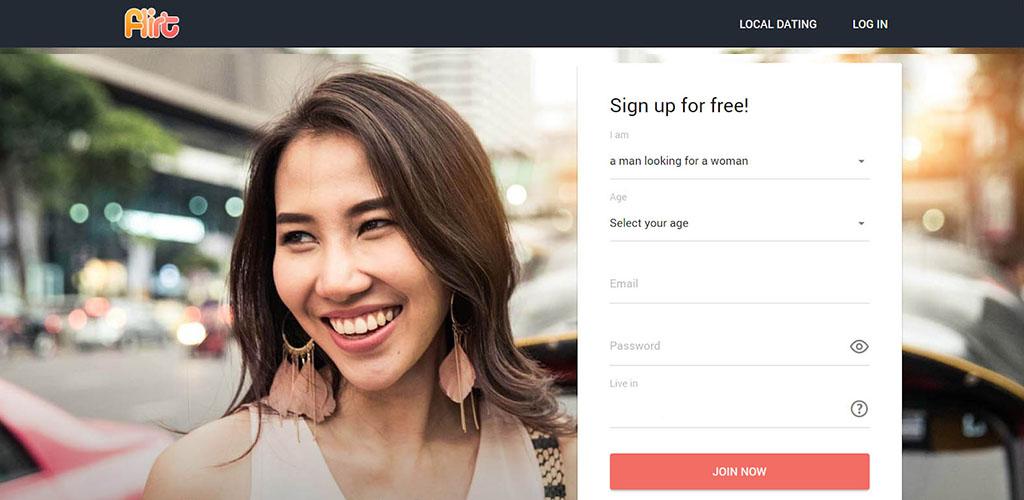 Flirt.com review landing page