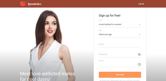 Loveaholics landing page