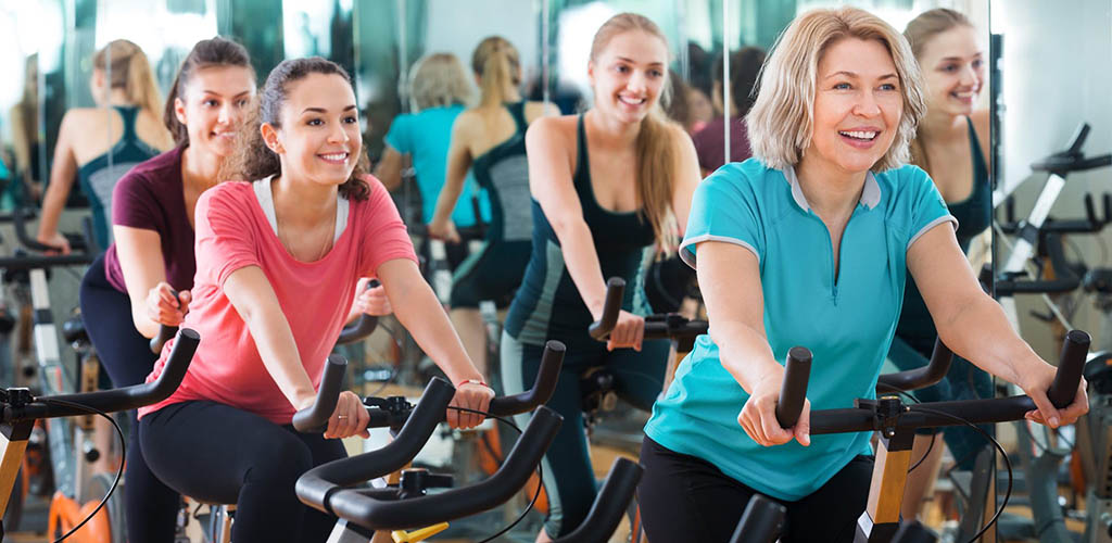 A fun cycling class at Ochsner Fitness