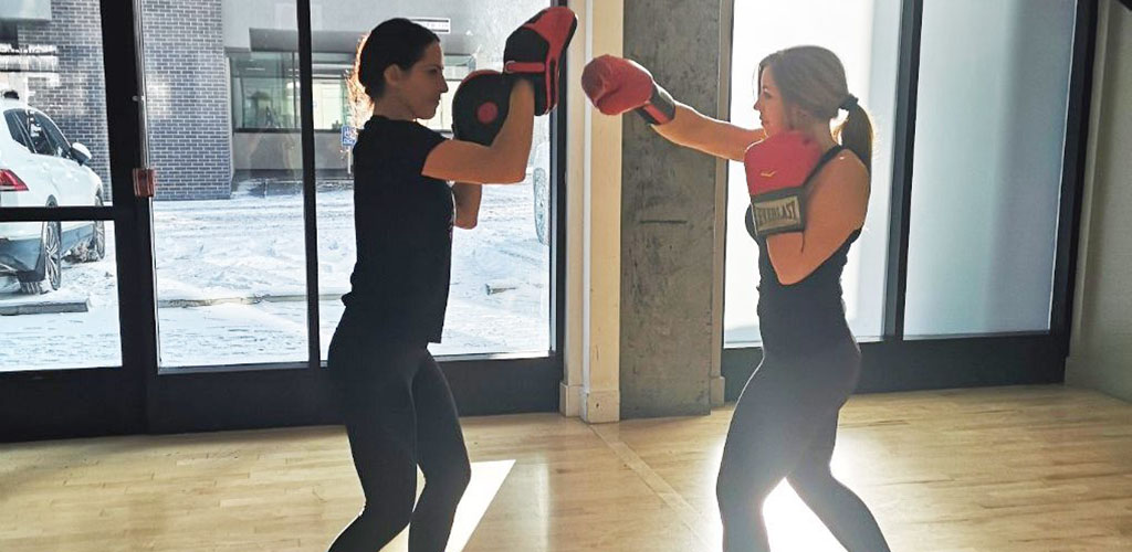 A boxing workout at Urban Athlete Fitness Studio