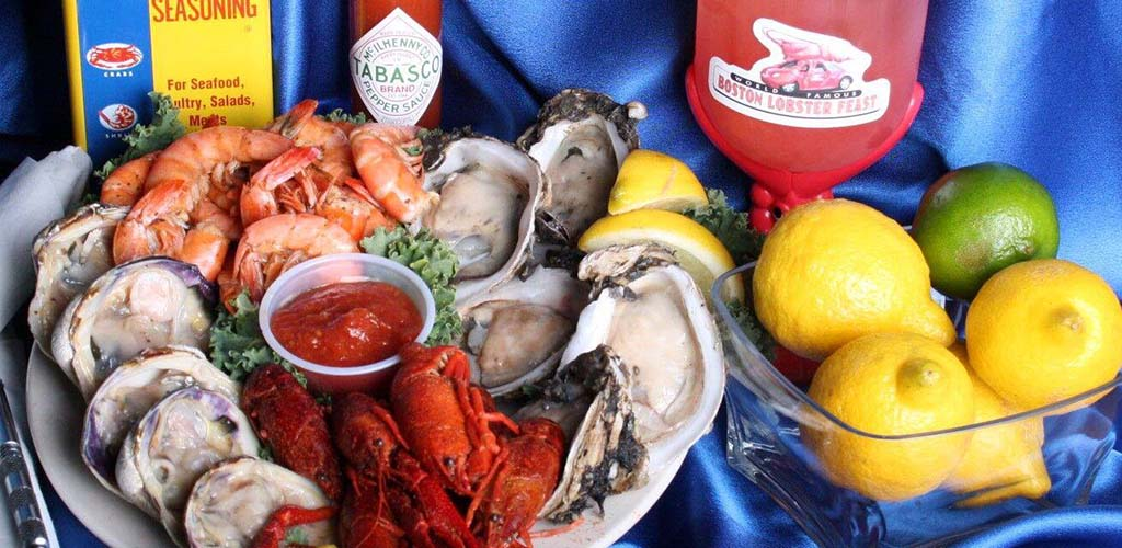 Fresh seafood from World Famous Boston Lobster Feast