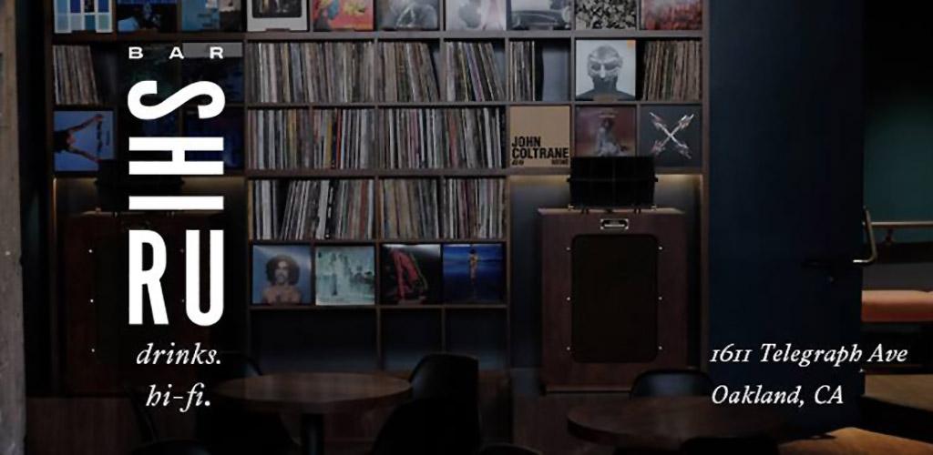 A wall of records at Bar Shiru