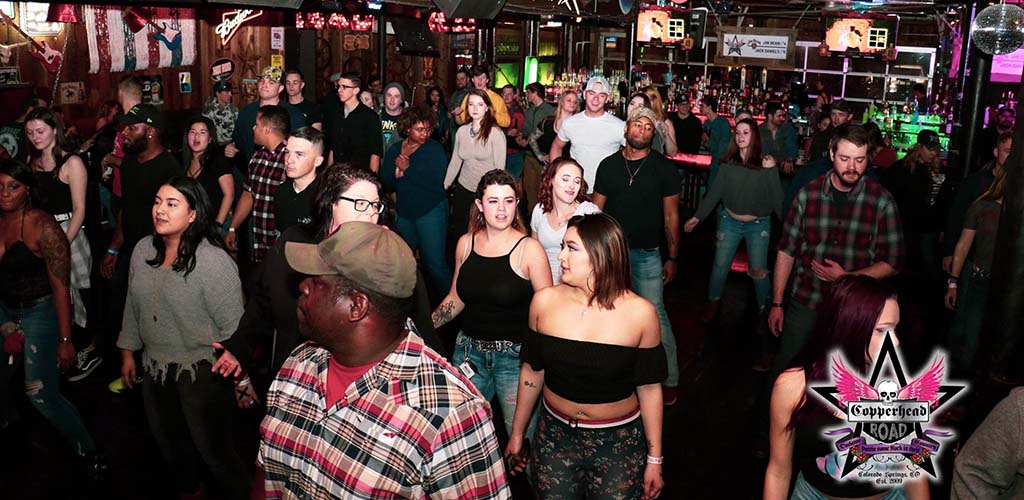 Single women seeking men on the dance floor of Copperhead Road Bar