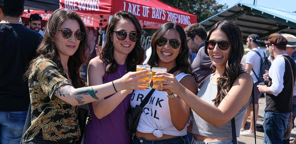 Girls sampling different brews at the Craft Beer Festival