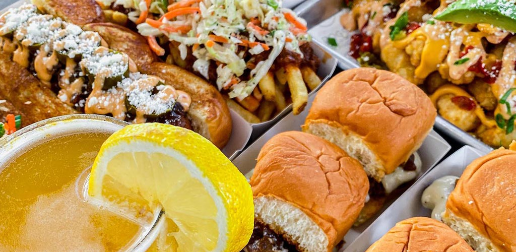Burgers, sliders and drinks from Dog Haus