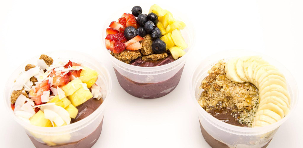 Acai bowls from Ediblend Superfood Cafe
