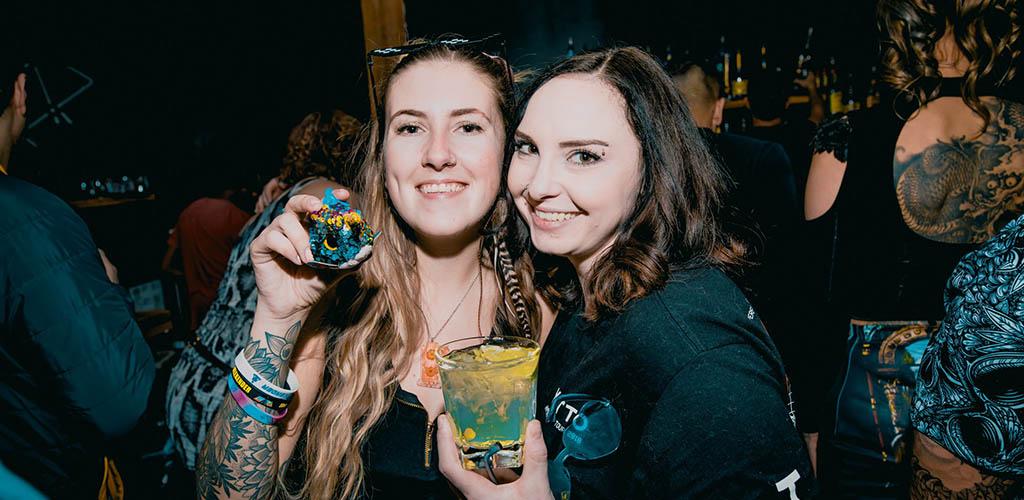 BBW in Calgary enjoying drinks at Habitat Living Sound