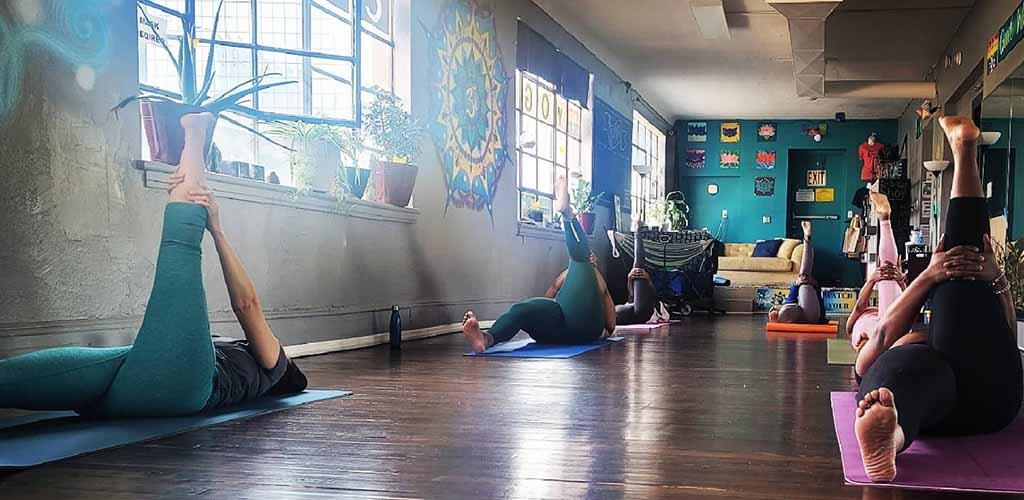 A class at I'm So Yoga
