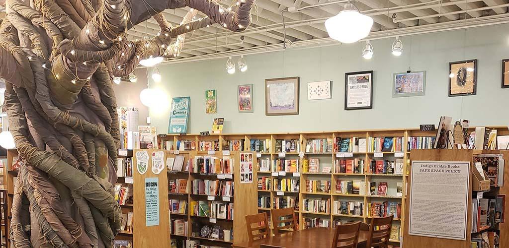 Inside Indigo Bridge Bookstore