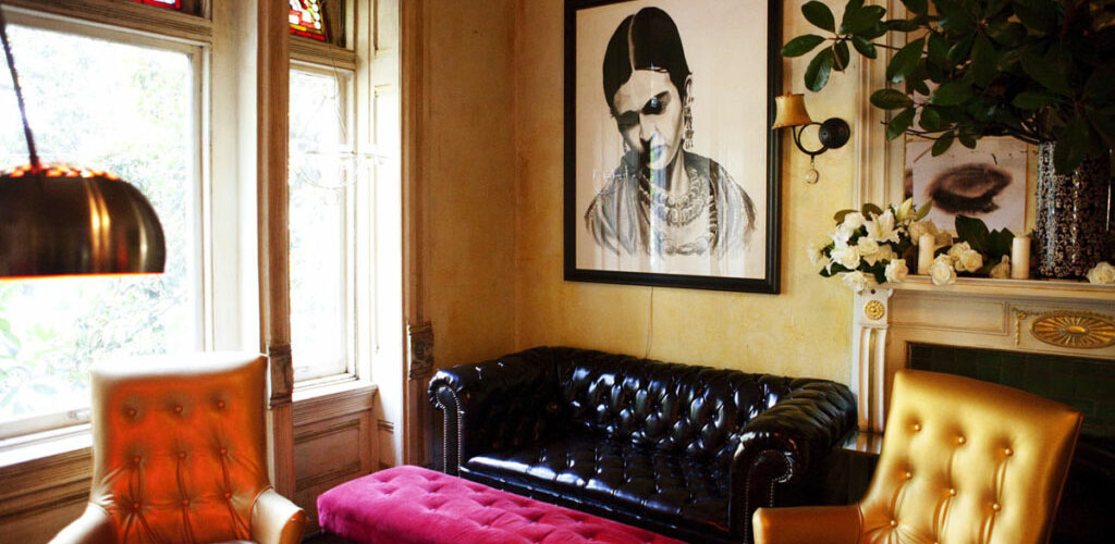Inside the Mollie Fontaine Lounge in the daytime