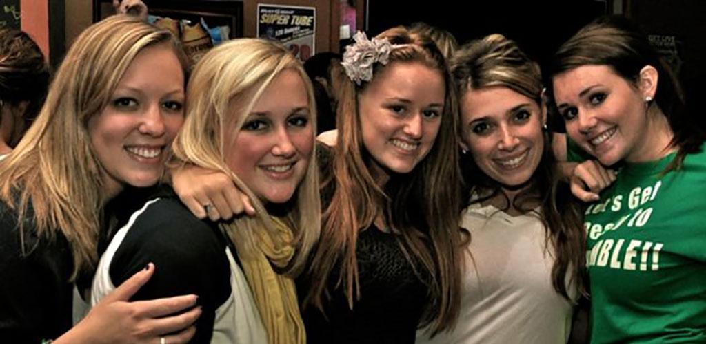 Coeds grabbing drinks at Pub Webb