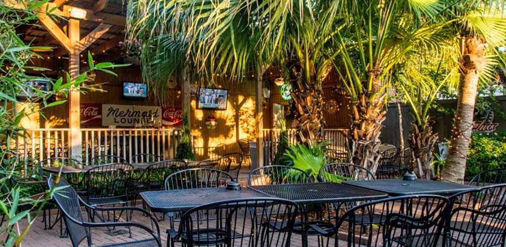 The outdoor area of The Rusty Nail