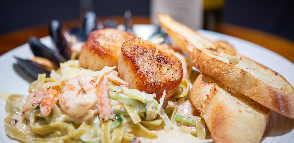 Pasta from Screamers Dining and Cabaret
