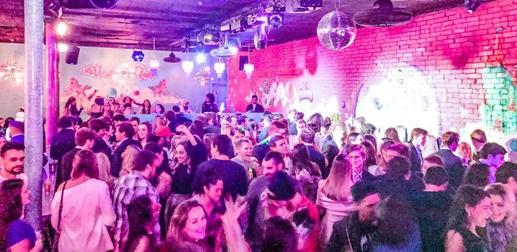 The crowded dance floor of Unicorn Tulsa