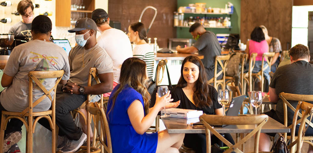 Urban Alchemy Coffee and Wine Bar where singles find hookups in Arlington