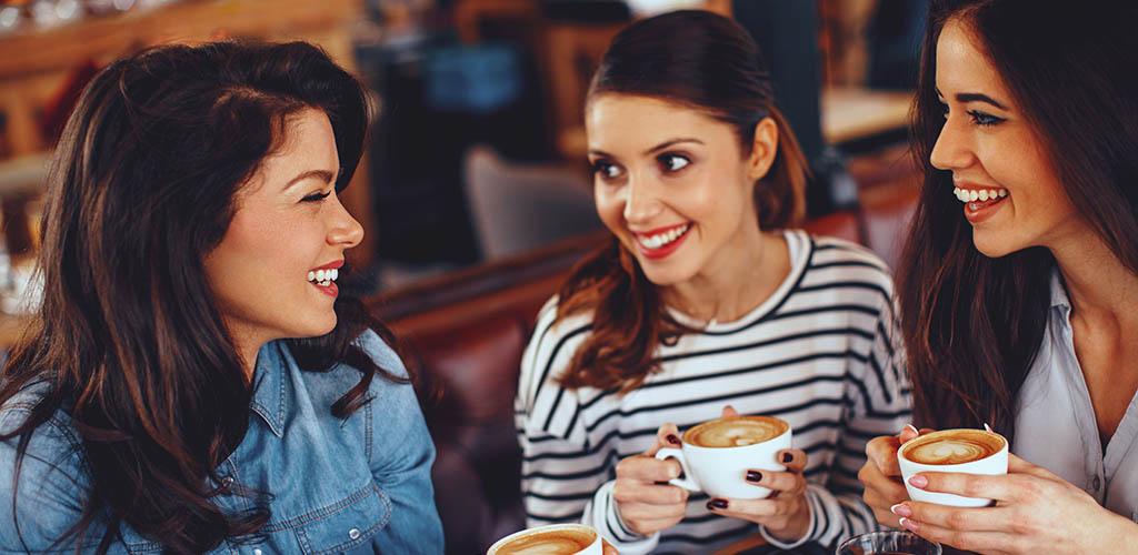 Henderson girls having coffee
