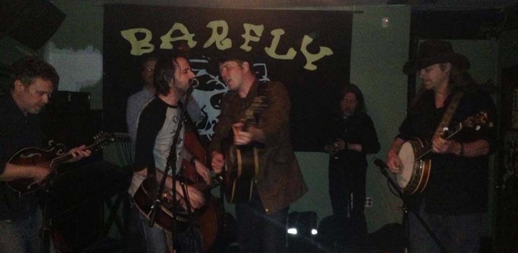 A live band at BarFly