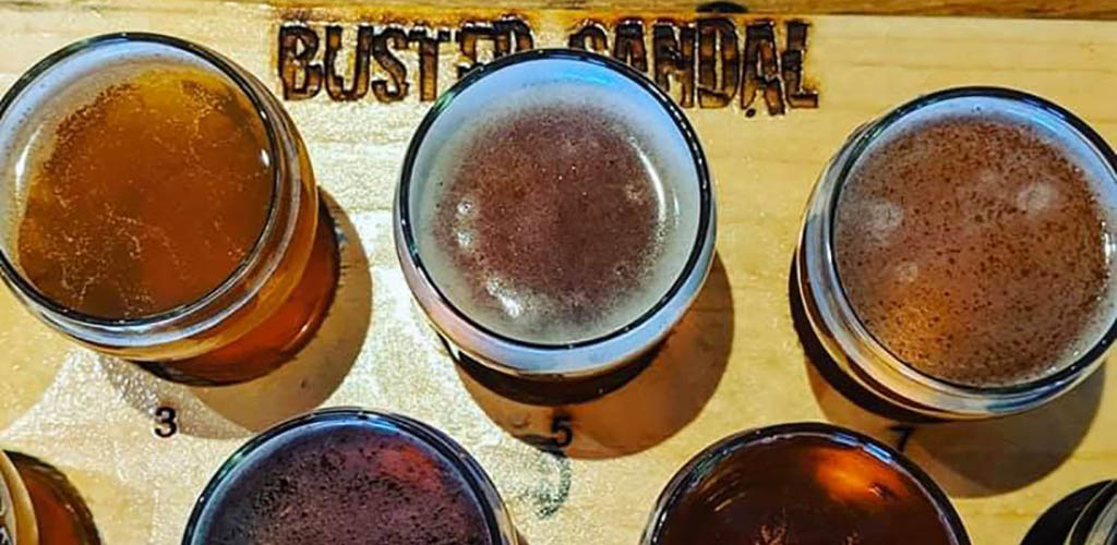 Different beers from Busted Sandal Brewing