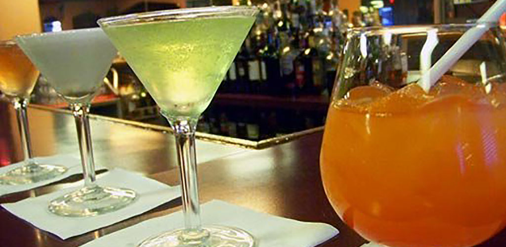 Cocktails from Caps Piano Bar