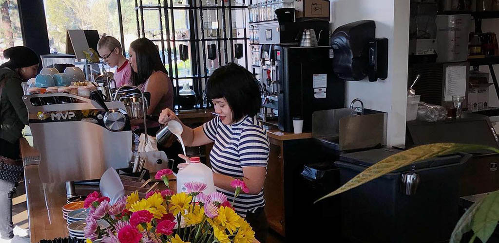 An afternoon with lots of Stockton girlsat Empresso Coffee