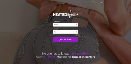 Heated Affairs landing page