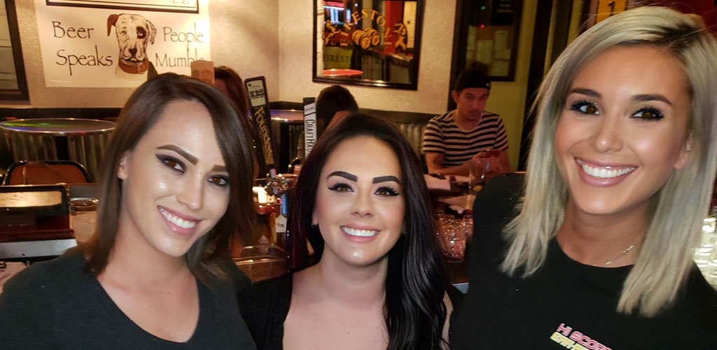 Ladies on a night out at Hi Scores Bar-Arcade