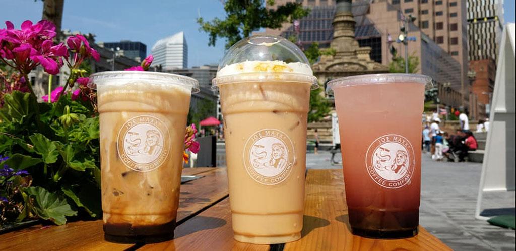 Various drinks from Joe Maxx Coffee
