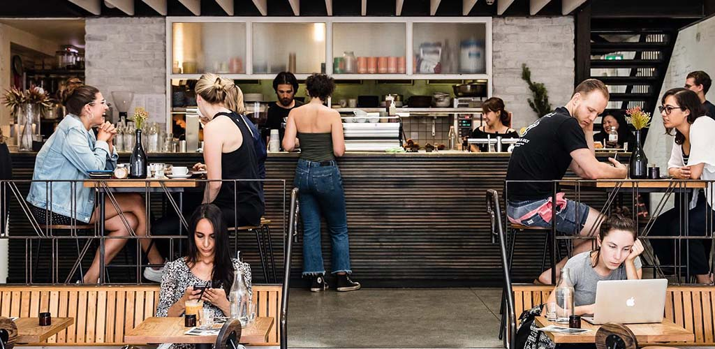 Sydney singles drinking coffee and hooking up at Mecca Coffee Roasters