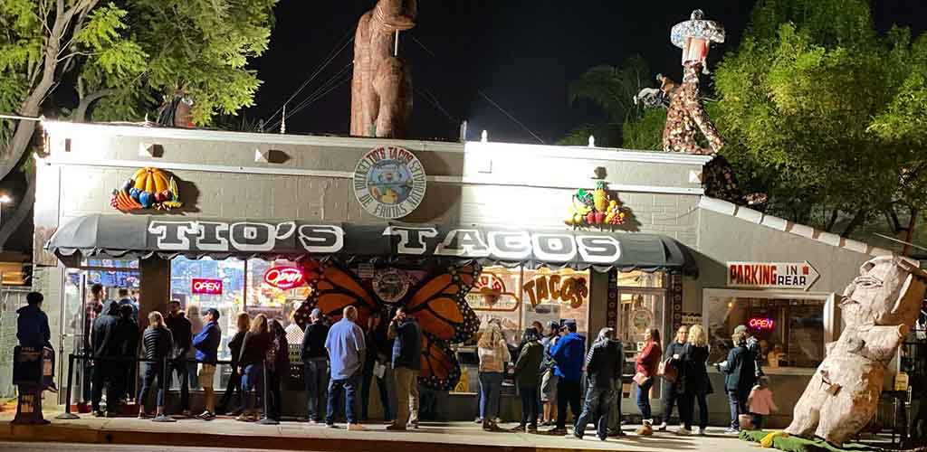An evening at Tio's Tacos
