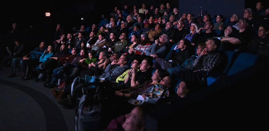 The audience during a film showing at the Anchorage International Film Festival