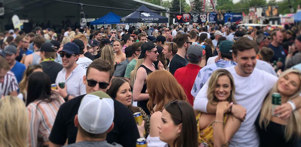 A crowd of young people at Streetsville Founders' Bread & Honey Festival