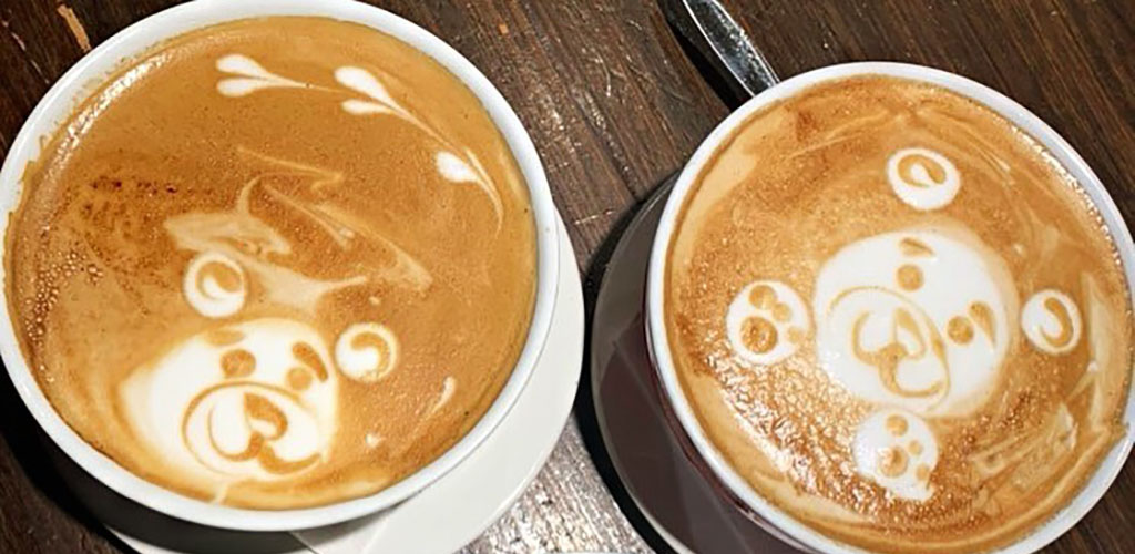 Cute lattes from Brulerie Cafe Creme