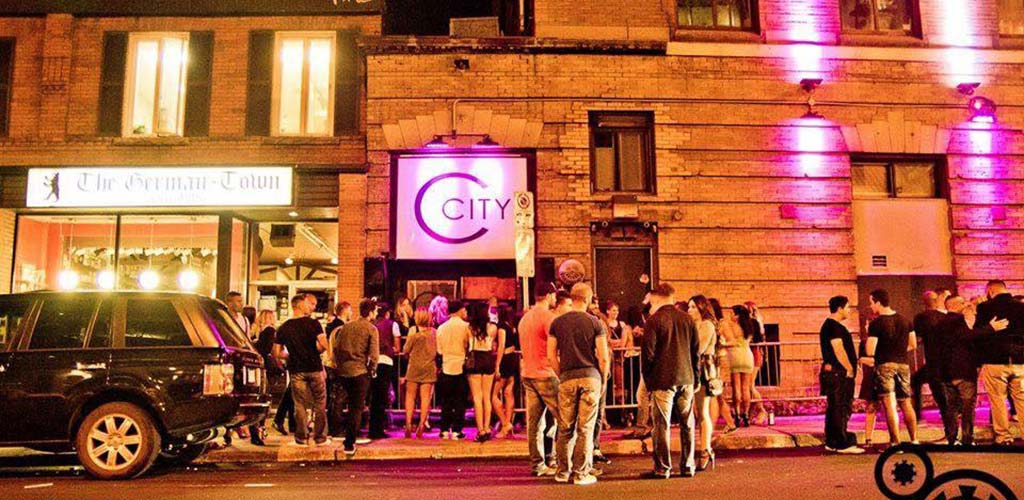 Young people lined up outside City at Night